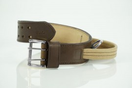 Bieler-Leather Police- Halsband-Braun vernickelt | Nowasell Animals Collection & More