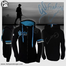 Hotspot Design Zipped sweat GO FISHING | Nowasell Animals Collection & More
